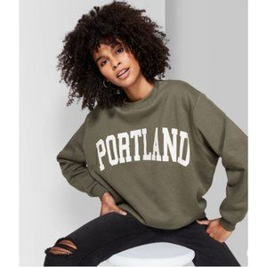 WF Oversized Olive PORTLAND Sweatshirt